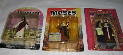 Christian Action Figures Jesus Tales of Glory Talking Moses Buddy Christ Pope