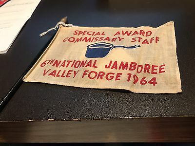 Boy Scout Jamboree 1964 Special Award Commissary Staff Flag