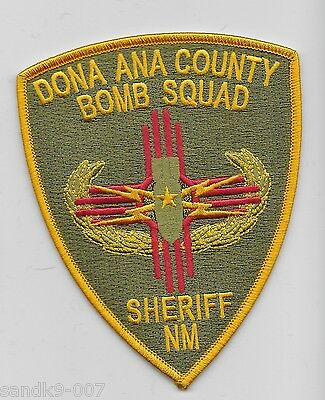 New Dona Ana County Sheriff Bomb Squad EOD State NEW MEXICO NM Shoulder Patch
