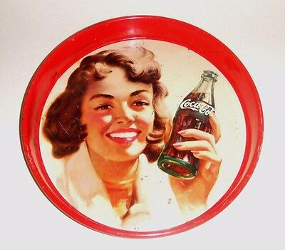 "Antique Original 1954 Coca Cola Coke Mexican Tray from "" Mexico ""  Nice """