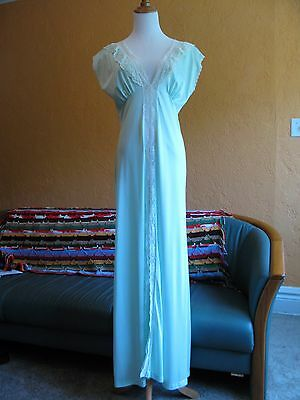 Vintage ROYAL BOUDOIR COLLECTION OF ARISTOCRAFT Long Nightgown Sea Green - Sz L