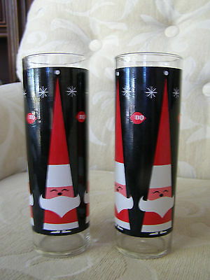 Vintage Dairy Queen Santa Glasses - Set Of 2 - Holt Howard Design
