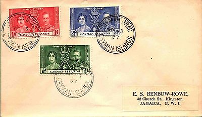 1937 Cayman Islands 1st Day Cover - Coronation issues  stk#351