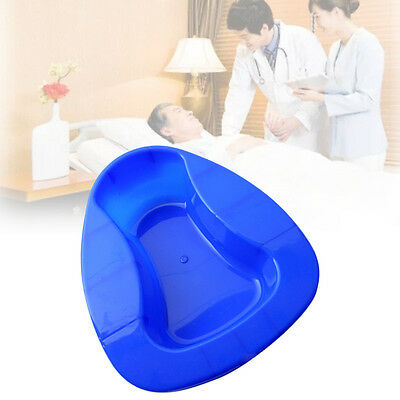 Plastic Bed Pan Bedridden Patient Health Care Incontinence Aid Blue Tools