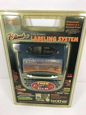 New Brother P-Touch PT-1750 Electronic Labeling System Label Maker Sealed