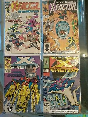 X-factor 1st Appearance Lot #'s 5, 6, 19 and 24