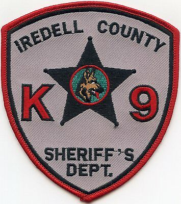 Iredell County North Carolina Nc K-9 Sheriff Police Patch