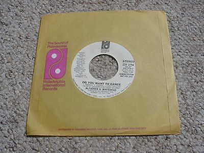 PROMO DJ 45 rpm record McFadden & Whitehead do you want to dance / mr music