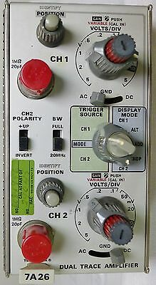 Tektronix 7A26 Dual Trace Amplifier Plug-In