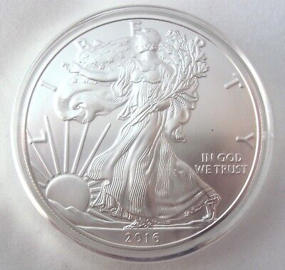 2016 American Silver Eagle .999 1 Oz $1 Silver Bullion Mint Coin BU