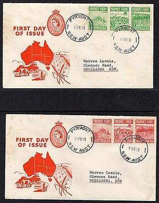 Pre Decimal, FDC, 1953 Food Production,SG180 &185,CV$60+,C&S,#428