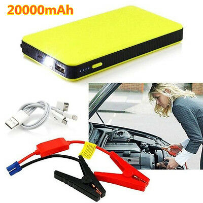 12V Portable Car Jump Starter 20000mAh Battery Charger Booster LED Power Bank