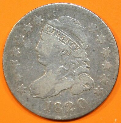 1820 Bust Dime, small 0, nice look