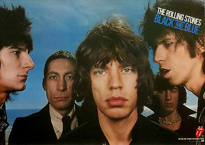 "ROLLING STONES 1976 Black & Blue PROMO POSTER - Huge 27"" x 40"" EXCELLENT COND."