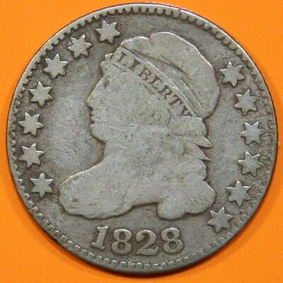 1828 Bust Dime, Large Date