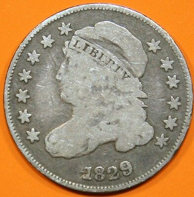 1829 Bust Dime, Small 10c