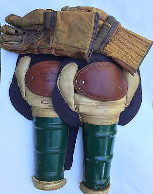 Antique Hockey Equipment - Pads and Gloves