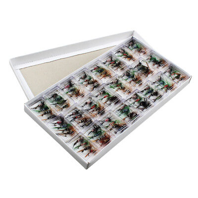 96pcs/ set Trout Bait Dry Fly Fishing Hooks Streamer Lures Kit with Case Box