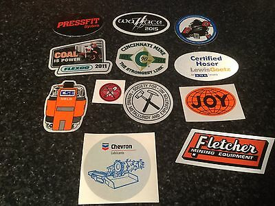 Junk Drawer Lot 18 Of 21 Miners Decals, Stickers Unused