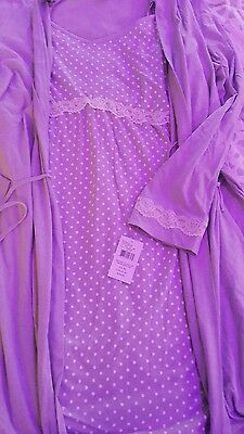 Oh Baby Maternity Nursing nightgown and robe set 1X XXL  NWT