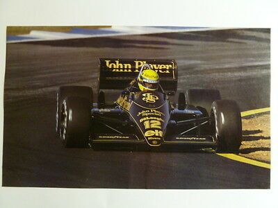 1987 Lotus Renault #12 John Player Special F1 Picture / Print / Poster RARE!!
