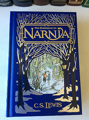 The Chronicles of Narnia by C.S. Lewis - leather-bound - ships in a box