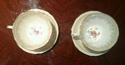 English cup and saucers paragon