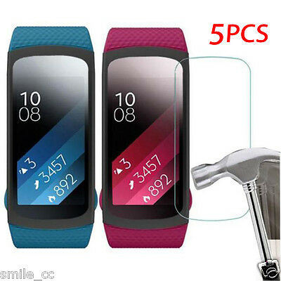5x HD Film Intelligent LCD Screen Protective For Samsung Gear Fit 2 SM-R360