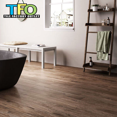 Only $28/m2! Brown Timber Look Italian Porcelain Tile 150x900mm (#5679)