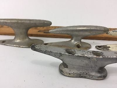 Antique Vintage Lot Of 6 Iron Boat Dock Cleats Maritime Rope Anchors Nautical