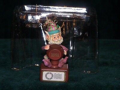 "1991 Enesco Ornament  ""Stamper"" 2nd Issue In Wee Tree Trimmers Series"