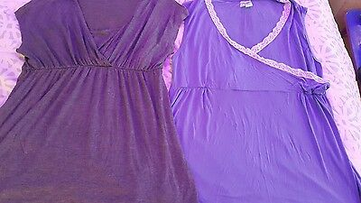 Lot 2 Maternity Nursing Tops XL