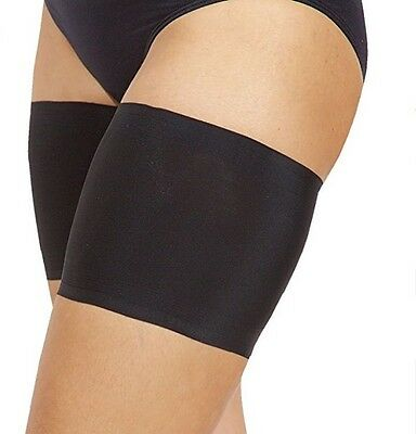 Bandelettes Elastic Anti-Chafing Thigh Bands. Prevent Chafing. Black Sz D (XL)