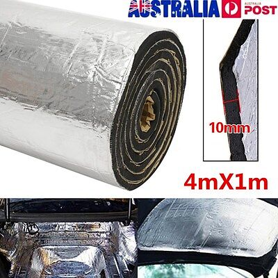43sqft 10mm Sound Deadener Car Heat Shield Insulation Deadening Material Mat AU
