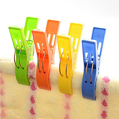Plastic Laundry Hanger Jumbo Pegs Big Clothes Pins Large Heavy Duty Clips x4