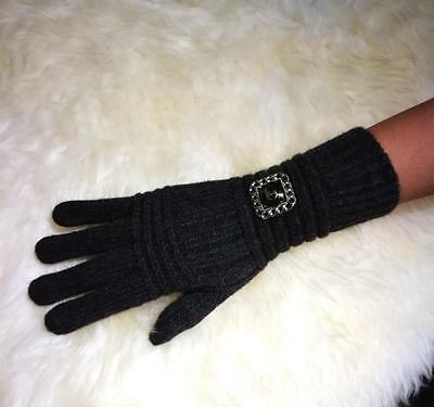 Chanel VIP Gift Black Wool Gloves Brand New With Box Great Gift