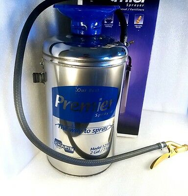 Chapin 2 Gallon Premier Stainless Steel Tank Sprayer, Funnel Top, 1253