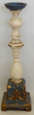 Wooden and Metal Candle Holder Medium. Antique Style. Indoor. 40cm Tall