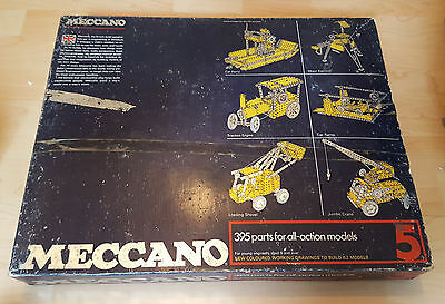 VINTAGE MECCANO SET 5 ENTHUSIAST - 395 parts for all-action models