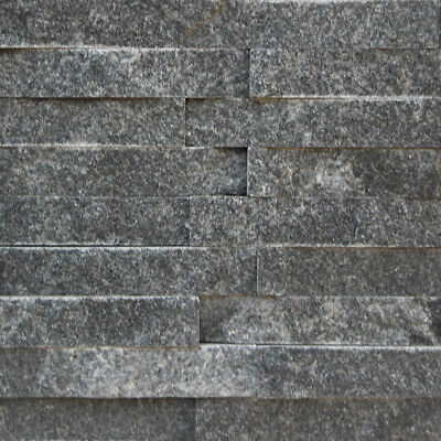 Only $33/m2! Crystal Black Stackstone Wall Cladding 150x600mm (#8484)