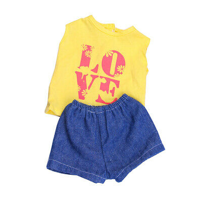 Fashion Doll Yellow Sports Clothes Outfit for 18 inch American Girl Doll NEW