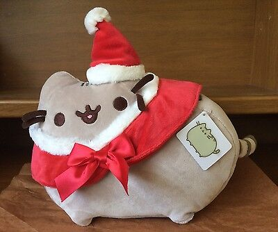 "Santa Pusheen the Cat 12"" Plush Christmas, NEW with tag"
