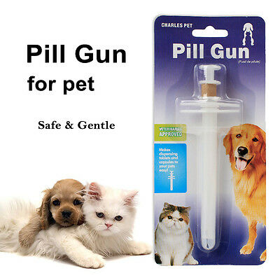 Pet Medicine Pill Gun Popper Piller Pusher Feed Dog Cat Puppy Medication Syringe