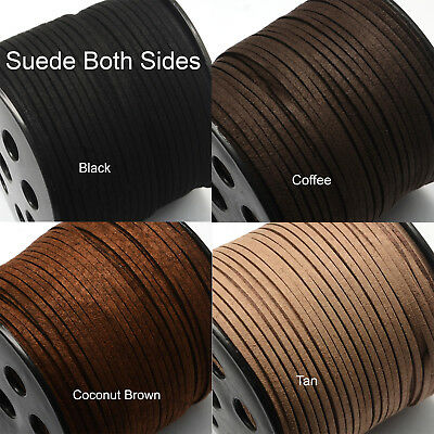 5metres of Flat Suede On Both Sides Leather Cord 3mmx1.5mm