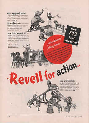 1951 Revell Circus Wagoms and Wild Animals  Vintage TOY TRADE AD.