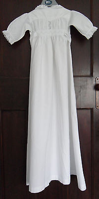 Antique Victorian Childs Fine Cotton Gown For Collectors Or Christening
