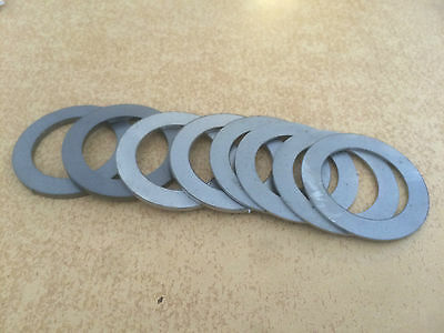 30mm id shim pack for excavator and digger pins etc (4x 1mm, 2x 2mm, 2x 3mm)