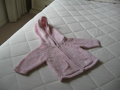 Baby Girls Jacket with Hood Colour Pink  Design Dymples  Long Sleeves Size 000