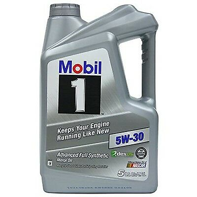 Synthetic Motor Oil Mobil 1 5-Quart 5W30 Lubrication Wear Performance Protection