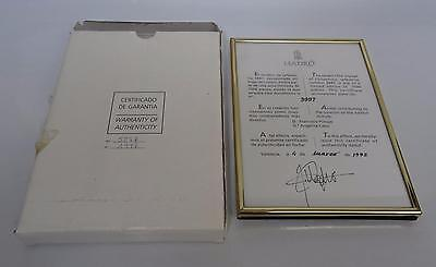 Lladro The Voyage Of Columbus Coa Warranty Of Authenticity 3997 Signed 5847/7500